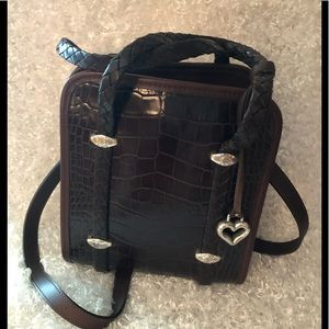 Brighton Brown leather shoulder strap bag Nice
